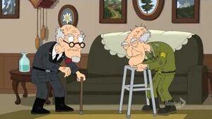 Family Guy - Herbert and Nazi Lieutenant Epic Fight!!