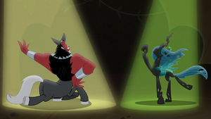 Tirek and Chrysalis posing dramatically S9E8