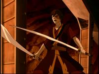Zuko with his swords