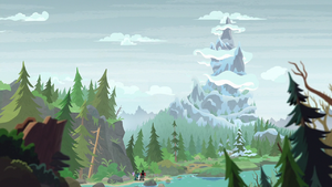 Distance view of Grogar's Legion at Mt. Everhoof S9E8