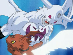 Guilmon vs. IceDevimon.