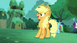 Applejack says Zecora's name S5E26
