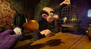 Gargamel and Monty and Smurfette