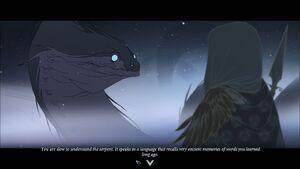 The Serpent talking Juno Banner Saga