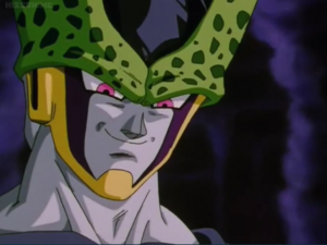 Perfect Cell grin Evilly