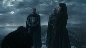 Stannis on the wall