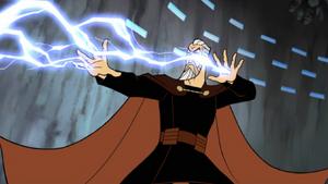 Count Dooku animated lightning