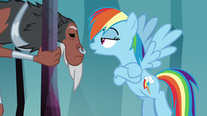 Rainbow 'nopony can open the door' S8E25