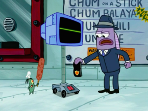 SpongeBob SquarePants Karen the Computer with Inspector
