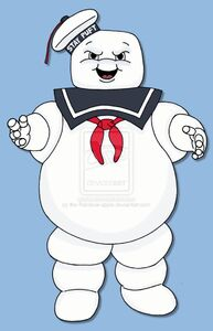 The stay puft marshmallow man by the rainbow apple-d34ywvr
