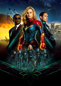 Textless Captain Marvel Internation al Poster