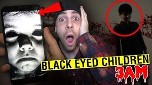 (SCARY) CALLING BLACK EYED CHILDREN AT 3AM!! *ACTUALLY WORKED*