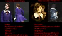 Alessa original and Origins Comparison Silent hILL