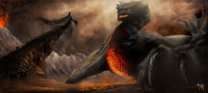 Ancalagon the black by skyrace-d7hemcm