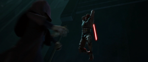Maul leaped