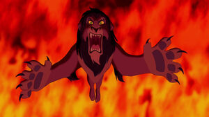 Scar's ferocious roar