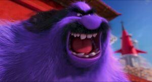 El Macho roaring ferociously