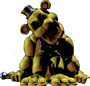 Transparent golden freddy decal by punchox3-d84pzyg