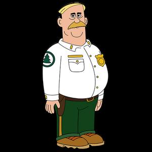 Brickleberry HD CLEAR Character ART Woody Johnson