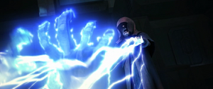 Darth Sidious Force lightning