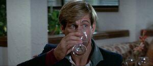Philip having a drink
