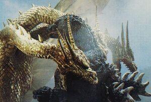 GVKG - King Ghidorah Bites Godzilla