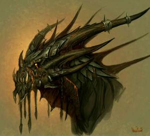 Deathwing head concept art