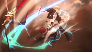 Shirou Slice off Gilgamesh's Arm 2