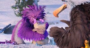 Zeta hugs Debbie after Mighty Eagle saved her