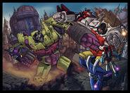 Devastator VS Superion by limabean01