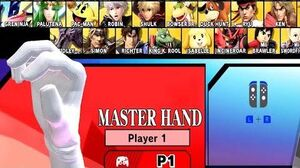 Super Smash Bros Ultimate Play As Master Hand - Boss Character World Of Light Gameplay