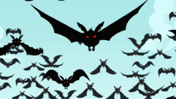 Vampire fruit bats flying S4E07