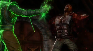 Ermac rips Jax's arms