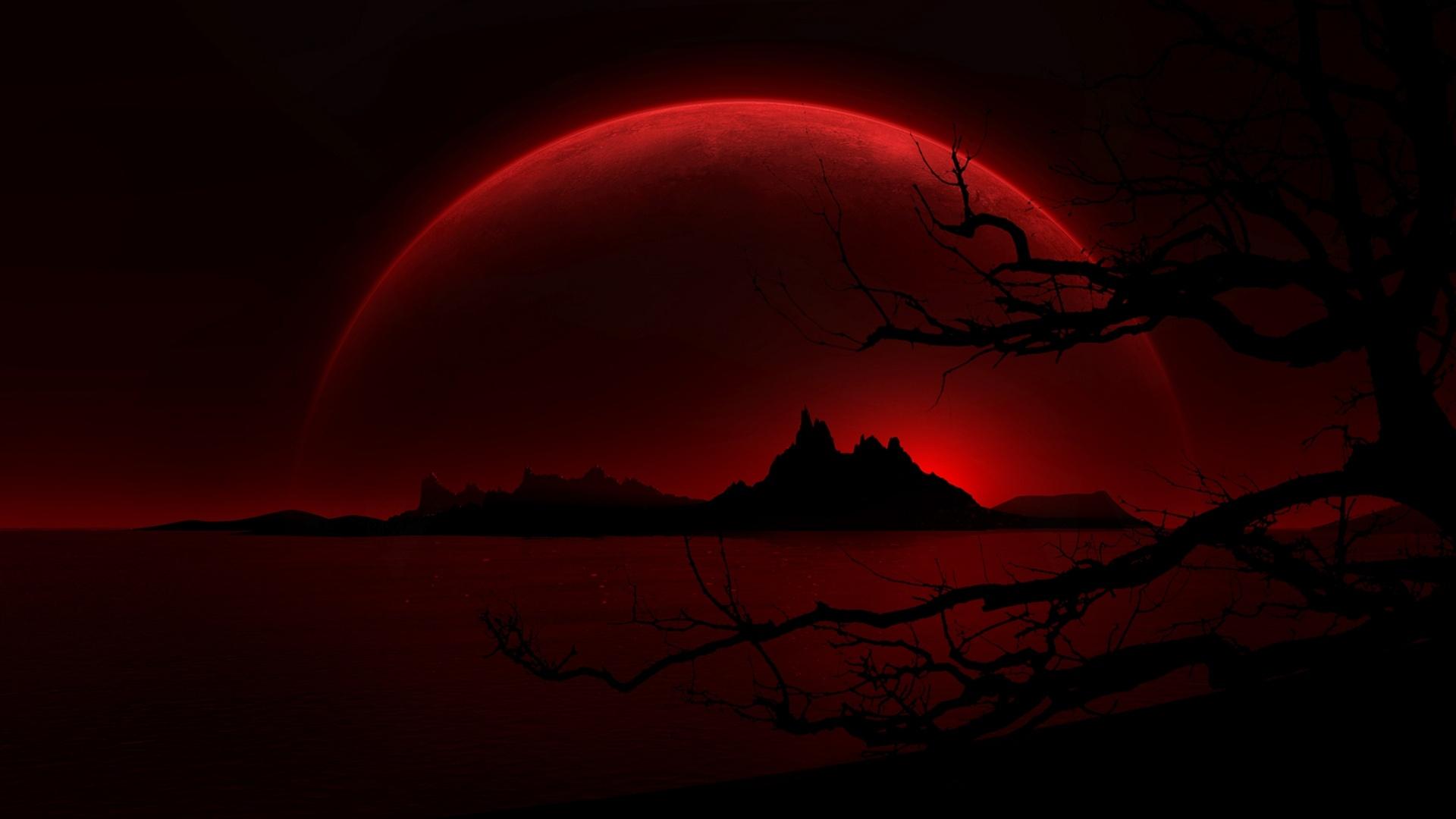 Red Moon Wallpaper 3443 Hd Wallpapers