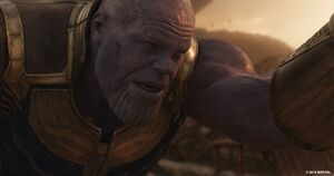 Thanos Patting Stark
