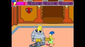 The Simpsons Arcade Game bosses Mr Smithers (Penultimate) & Mr Burns (Final)
