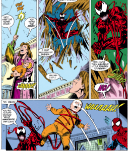 Carnage Kidnapping a baby and about throw out the window