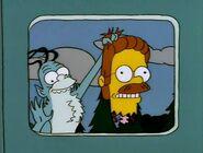 Gremlin holding Ned Flander's head.