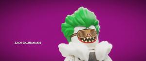 Joker laughing in purple
