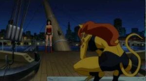 Claudia Black in Justice League 2012 Cheetah