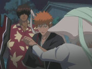 Ichigo saves Chad from Di Roy