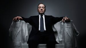 Frank underwood throne