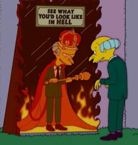Mr. burns devil