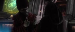 Nute Gunray begging for mercy