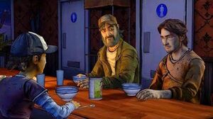 Clementine Choses Between Kenny and Luke (Walking Dead Telltale Games)