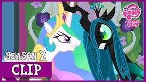 "MLP FiM - Princess Celestia vs Queen Chrysalis ""A Canterlot Wedding"" HD"