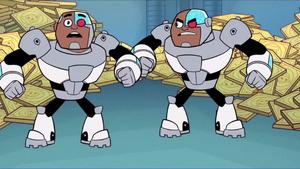 Madame Rogue and Cyborg
