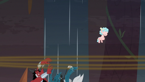 Tirek and Chrysalis fall off the tightrope S9E8