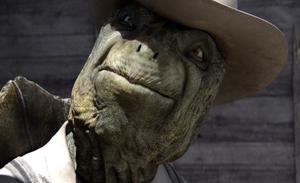 Tortoise John praising Rango