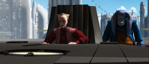 Palpatine seated